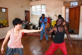 Dance workshop with Megan Yankee in Kampala Uganda